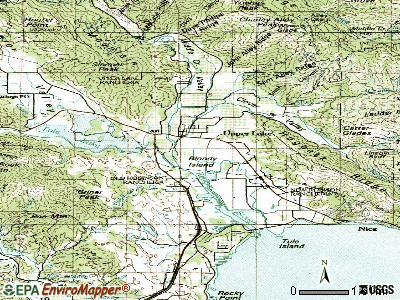Upper Lake topographic map