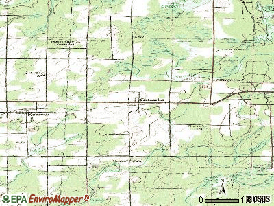 Catawba topographic map