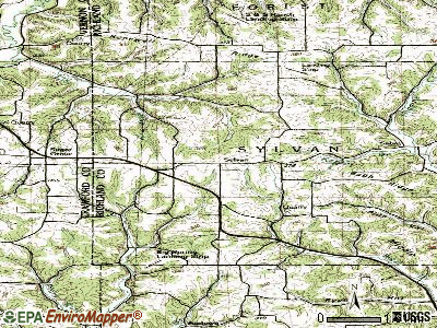 Sylvan topographic map