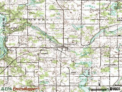 Somerset topographic map