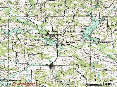 La Valle topographic map