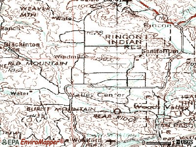 Valley Center topographic map