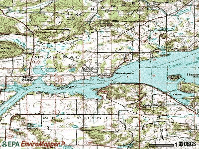 Merrimac topographic map