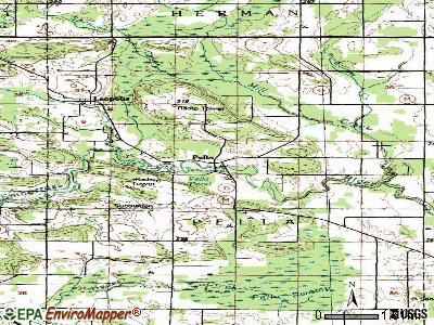 Pella topographic map