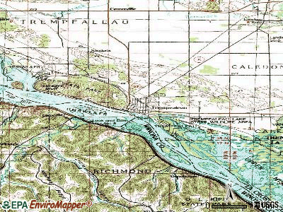 Trempealeau topographic map