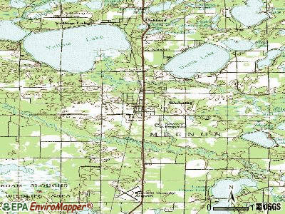 Webster topographic map