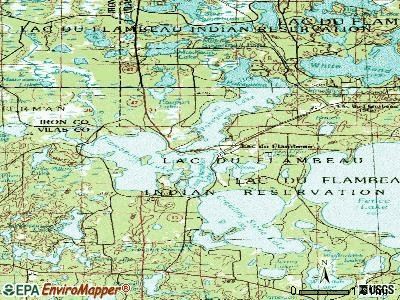 Lac du Flambeau topographic map