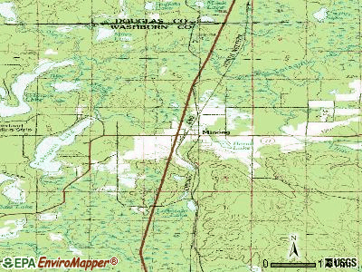 Minong topographic map