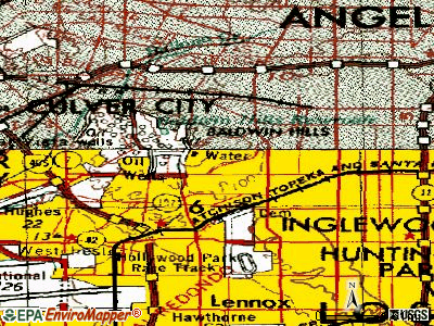 View Park-Windsor Hills topographic map