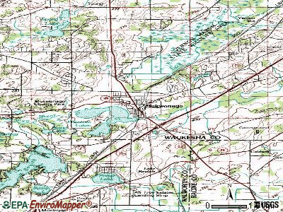 Mukwonago topographic map