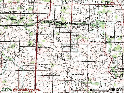 Dayton topographic map
