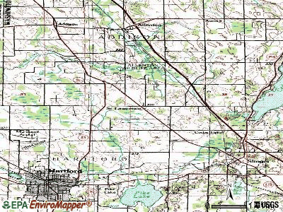 St. Lawrence topographic map