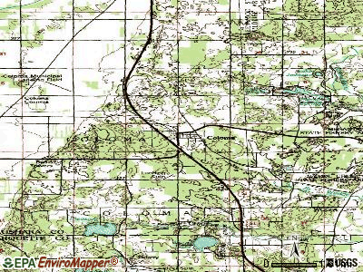 Coloma topographic map