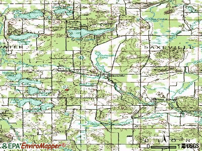 Saxeville topographic map