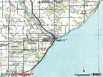 Algoma topographic map