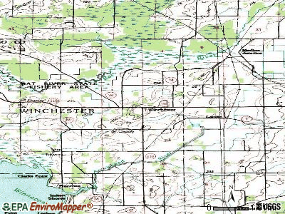 Winchester topographic map