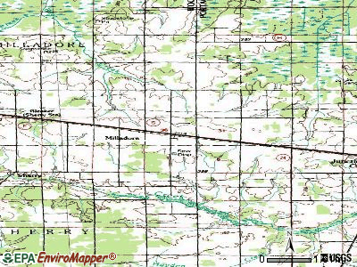 Milladore topographic map