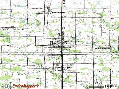 Abbotsford topographic map