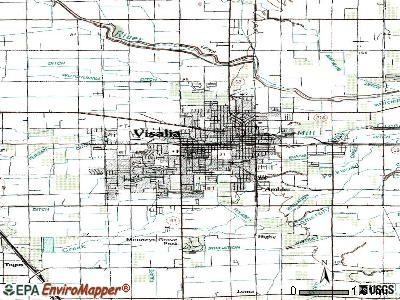 Visalia topographic map