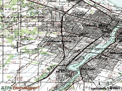 Ashwaubenon topographic map