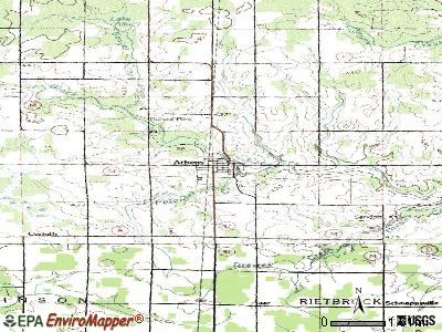 Athens topographic map