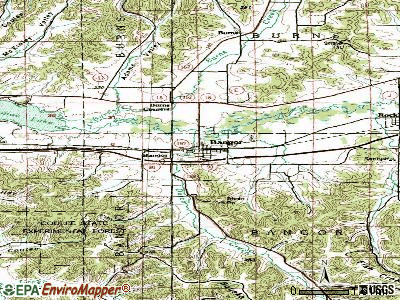 Bangor topographic map