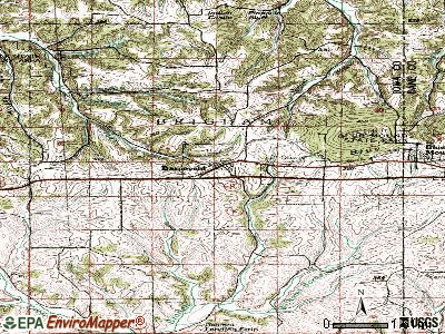 Barneveld topographic map