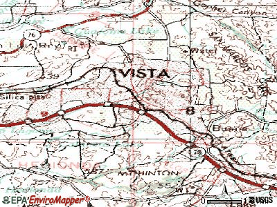 Vista topographic map