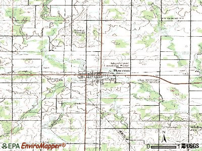 Barron topographic map