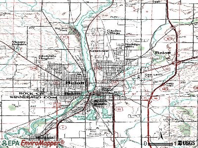 Beloit topographic map