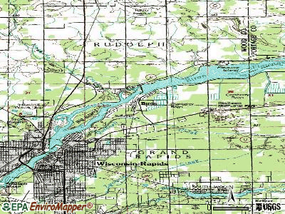 Biron topographic map