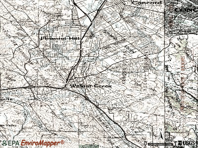 Walnut Creek topographic map