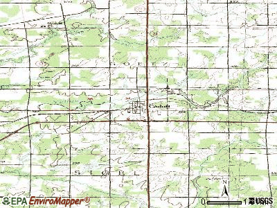 Cadott topographic map