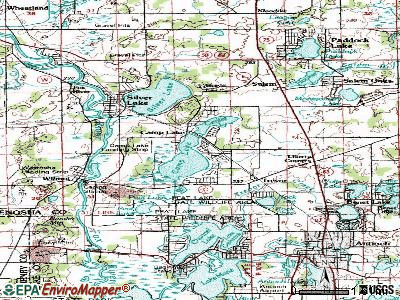 Camp Lake topographic map