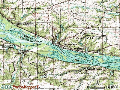 Cassville topographic map