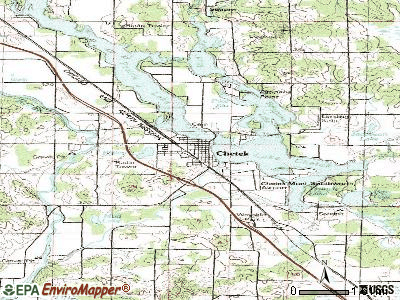 Chetek topographic map