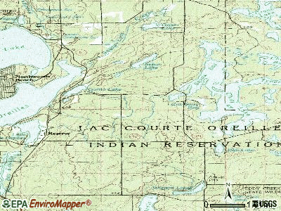 Chief Lake topographic map
