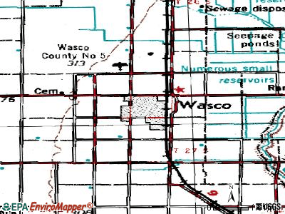 Wasco topographic map