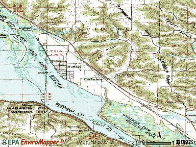 Cochrane topographic map