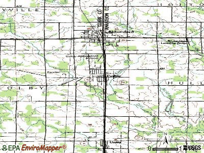 Colby topographic map