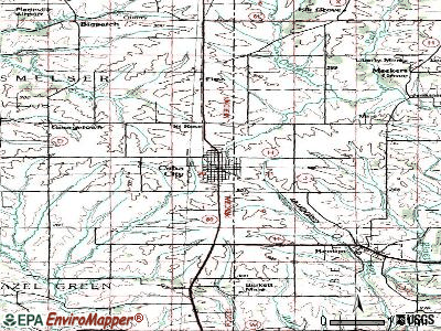 Cuba City topographic map