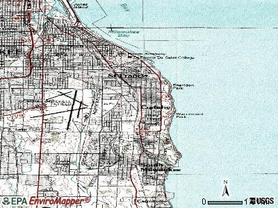 Cudahy topographic map