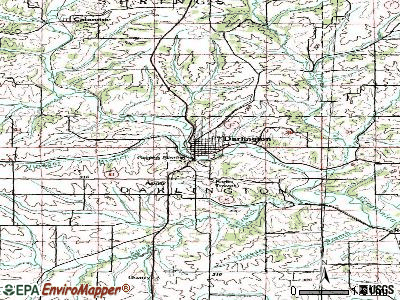 Darlington topographic map