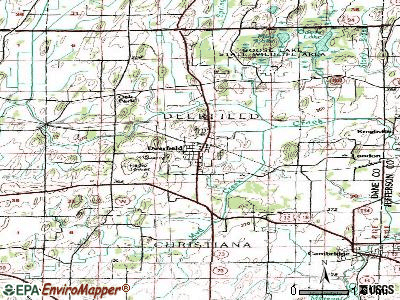 Deerfield topographic map