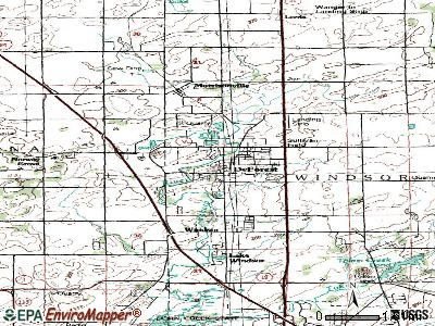 DeForest topographic map