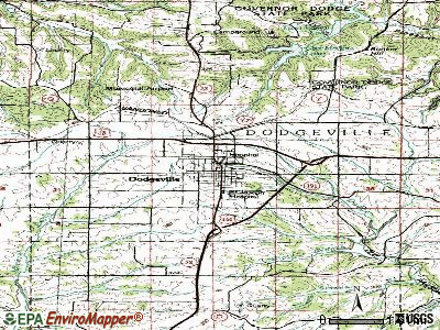 Dodgeville topographic map