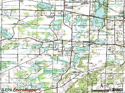 Dousman topographic map