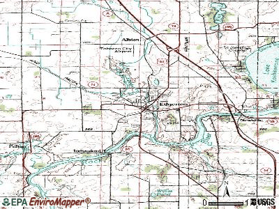 Edgerton topographic map