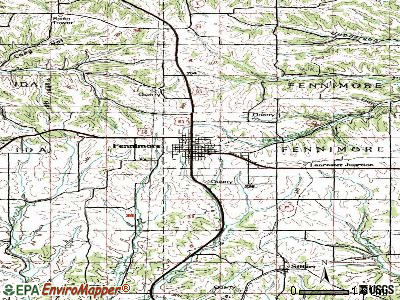 Fennimore topographic map