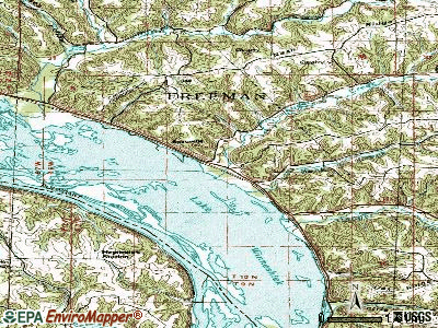 Ferryville topographic map